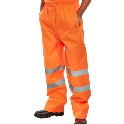 Beeswift High-Visibility Traffic Trousers Orange Medium TENORM