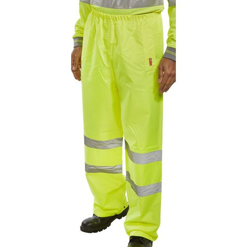 Beeswift High-Visibility Traffic Trousers Saturn Yellow Small TENSYS
