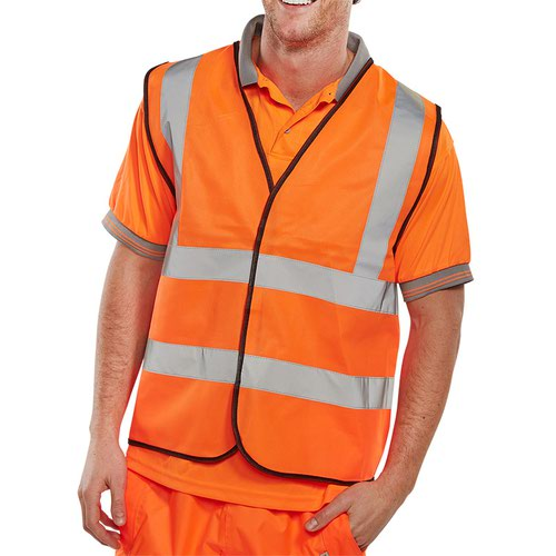 Beeswift High-Visibility Waistcoat Orange 4XL WCENGOR4XL
