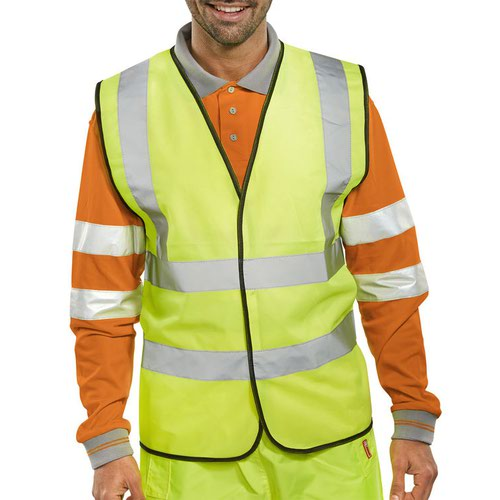 Beeswift High-Visibility Waistcoat Saturn Yellow WCENG