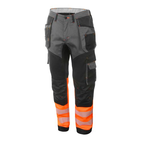 Beeswift Two Tone High-Visibility Trousers Orange/Black 42R HVTT080ORBL42