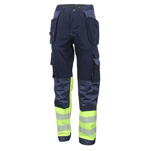 Beeswift Two Tone High-Visibility Trousers Saturn Yellow/Navy Blue 34S HVTT080SYN34S