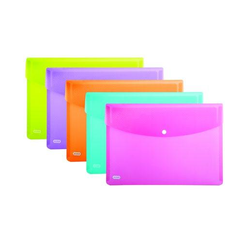 Elba SNAP Wallets A4 Assorted Colours 100081051