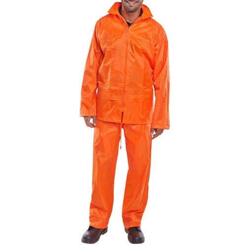 Beeswift Nylon B-Dri Weatherpoof Suit Orange 4XL NBDSOR4XL