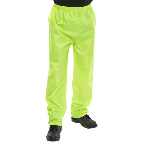 Beeswift Nylon B-Dri Trousers Saturn Yellow Small NBDTSYS