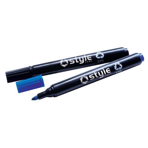 Style CORE Drywipe Bullet Tip Marker Blue