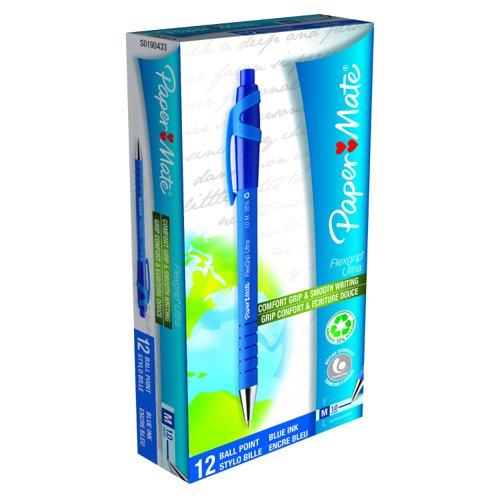Paper Mate Flexgrip Retractable Ballpoint Pen Medium Blue S0190433