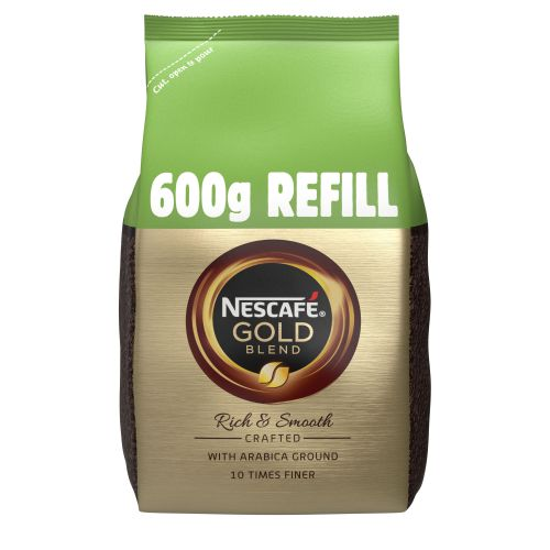 Nescafe Gold Blend Instant Coffee Refill Pack 600g Ref 12339283