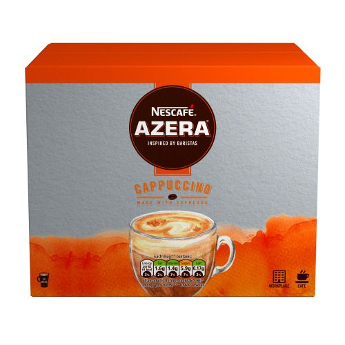 Nescafe Azera Cappuccino Instant Coffee Sachets One Cup 12366624 [Pack 35]