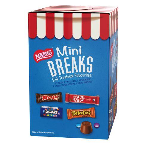 Nestle Mini Breaks Assorted 4 Varieties Ref 12369978 [Pack 24]  165524