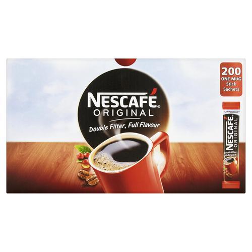 Nescafe Original Instant Coffee Granules Stick Sachets 12079838 [Pack 200]