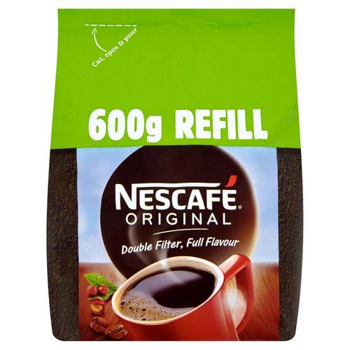 Nescafe Original Coffee 600g Refill Bag 12226526