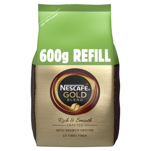 Nescafe Gold Blend Instant Coffee 600g Refill Bag 12226527