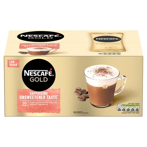 Nescafe Cappuccino Instant Coffee Sachets One Cup A02701 [Pack 50]