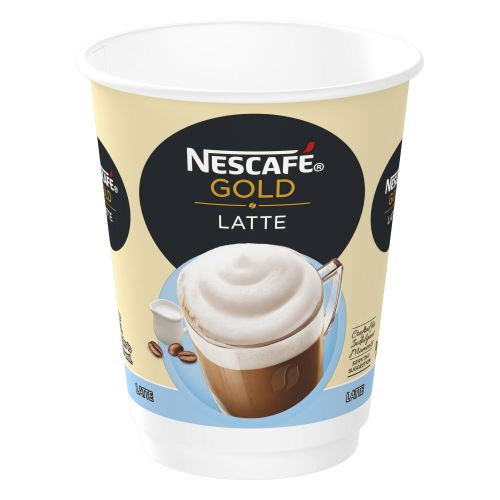 Nescafe & Go Gold Blend Latte Coffee Foil-Sealed Cup For Drinks Machine Ref 12367712 [Pack 8]