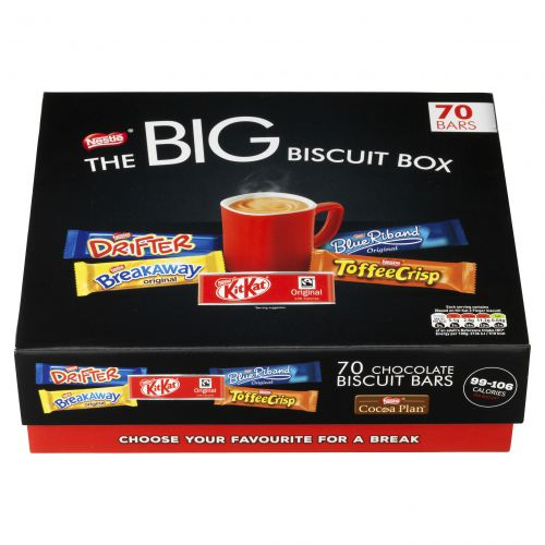 Nestle Big Biscuit Box (Includes: Breakaway Kit Kat Toffee Crisp Yorkie Blue Riband) 12313923