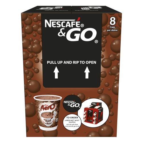 Nescafe Go Aero Hot Chocolate Pack Of 8 12367662