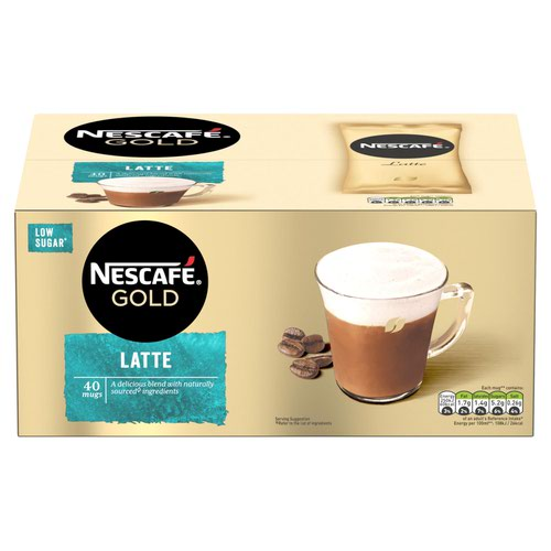Nescafe Gold Latte Instant Coffee Sachets (Pack 40) 12405013