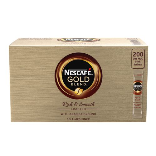 Nescafe Gold Blend One Cup Sticks Coffee Sachets (Pack of 200) 12151864