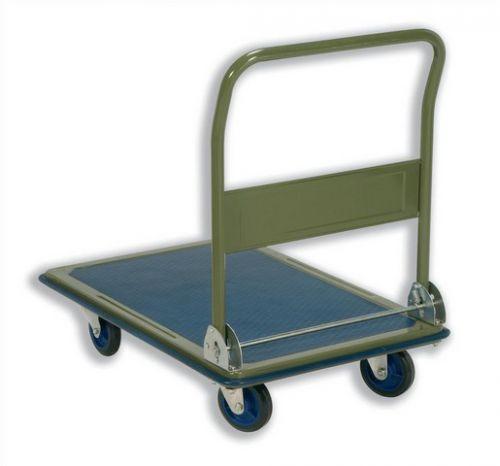 5 Star Facilities Platform Truck Medium-duty Capacity 300kg Baseboard W900xD600mm Blue and Grey