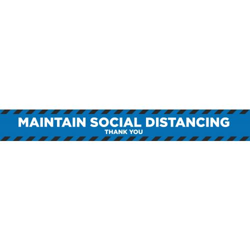 Social Distancing 2m Floor Marker - Blue