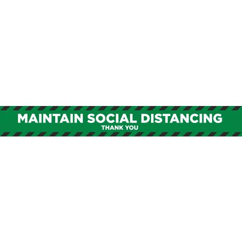 Social Distancing 2m Floor Marker - Green