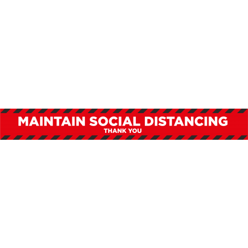 Social Distancing 2m Floor Marker - Red