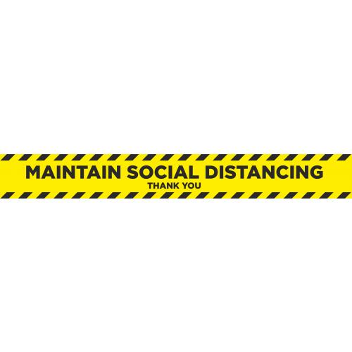Social Distancing 2m Floor Marker - Yellow