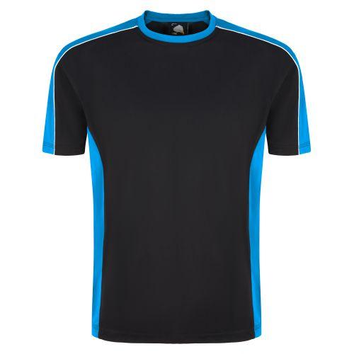 Avocet Wicking T-Shirt - XL - Black - Reflex Blue