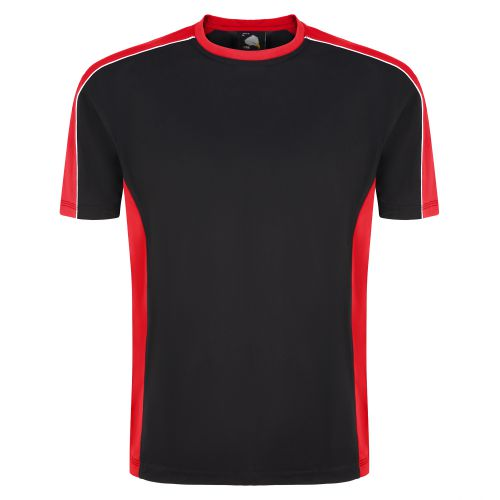 Avocet Wicking T-Shirt - 5XL - Black - Red