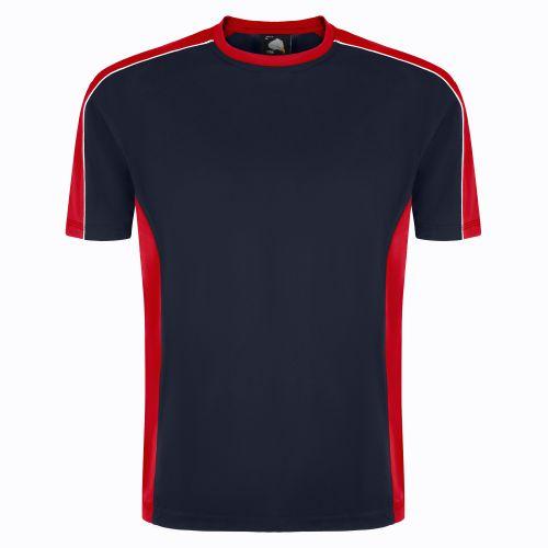 Avocet Wicking T-Shirt - XS - Navy - Red