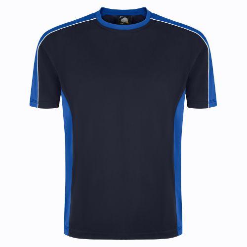 Avocet Wicking T-Shirt - L - Navy - Royal Blue