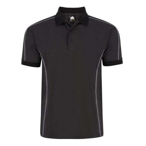 Crane Poloshirt - XS - Charcoal Melange - Black