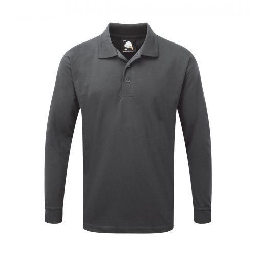 Weaver Premium L/S Poloshirt - 2XL - Graphite