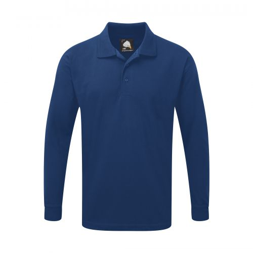 Weaver Premium L/S Poloshirt - 5XL - Royal