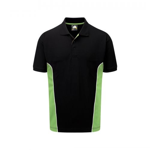 Silverswift Poloshirt - 3XL - Black - Lime