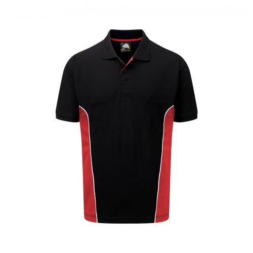 Silverswift Poloshirt - L - Black - Red