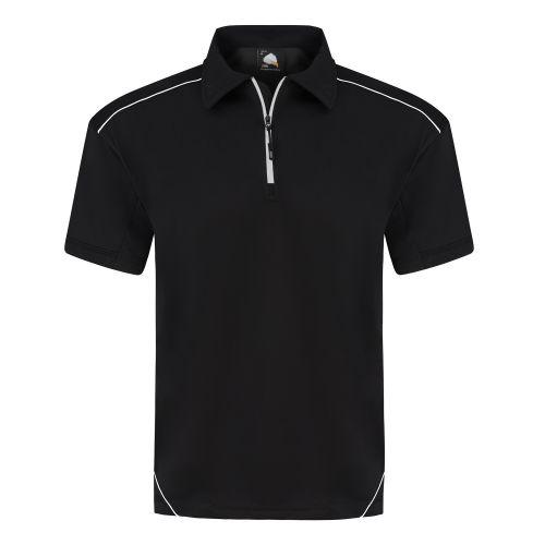 Fireback Wicking Poloshirt - M - Black - Black