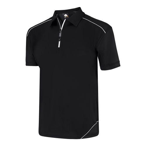 Fireback Wicking Poloshirt - S - Black - Black Polo Shirts and T-Shirts 1183-S-BKBK