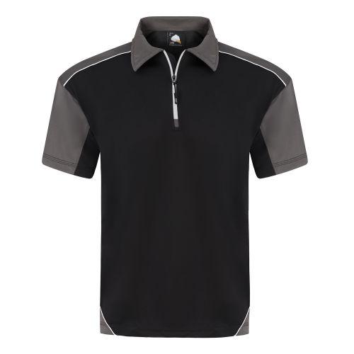Fireback Wicking Poloshirt - S - Black - Graphite