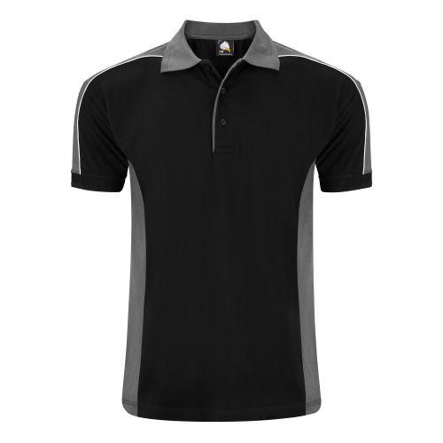 Avocet Poloshirt - 5XL - Black - Graphite