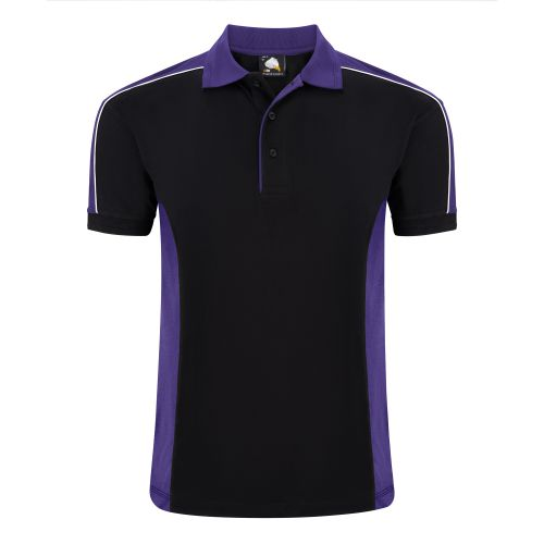 Avocet Poloshirt - 3XL - Black - Purple