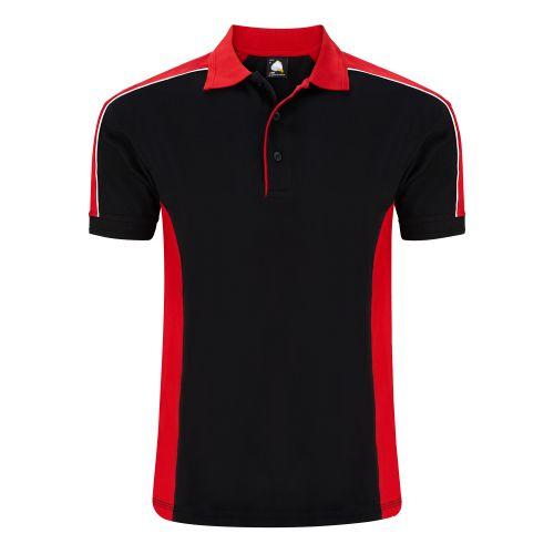 Avocet Poloshirt - XL - Black - Red