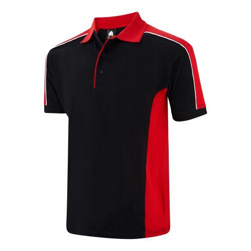 Avocet Poloshirt - XL - Black - Red Polo Shirts and T-Shirts 1188-XL-BKRD