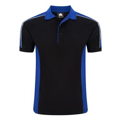 Avocet Poloshirt - 3XL - Black - Royal Blue