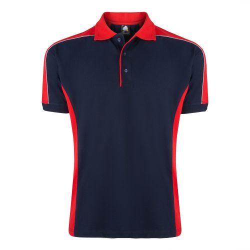 Avocet Poloshirt - M - Navy - Red