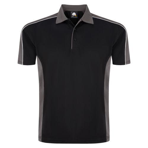 Avocet Wicking Poloshirt - XL - Black - Graphite