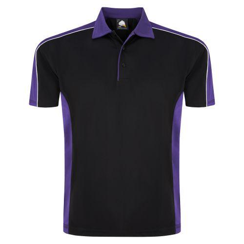 Avocet Wicking Poloshirt - 5XL - Black - Purple