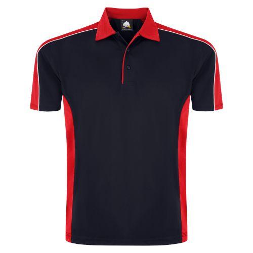 Avocet Wicking Poloshirt - XL - Navy - Red
