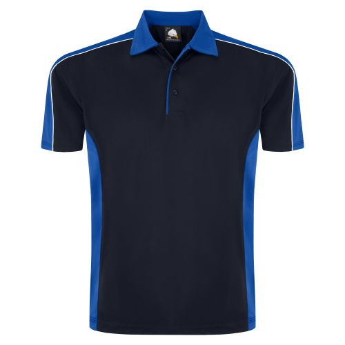 Avocet Wicking Poloshirt - M - Navy - Royal Blue